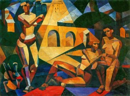 Nadezhda Udaltsova, Three figures 1914