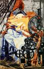 Natalia Goncharova, The Weaver (Loom + Woman), 1912-13 Oil on canvas. 153.3 x 99 cm