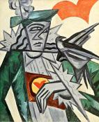 Olga Rozanova, Jack of Hearts, 1912-15, from the series Playing Cards Oil on canvas, 80 x 65 cm