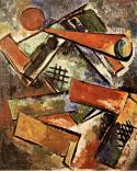 Varvara Stepanova, Trumpet Player, 1920 Oil on canvas, 70 x 57 cm