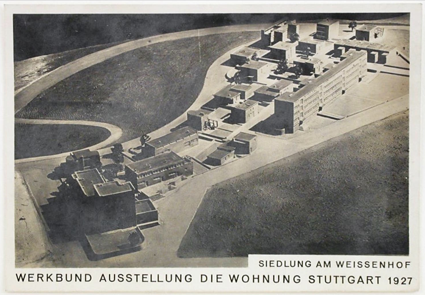 Unknown Photograph of a model of Weissenhofsiedlung, Stuttgart, Germany 1926 or later