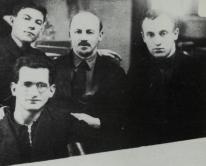 Bukharin with colleagues in the Commissariat for Heavy Industry, 1933