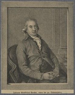Bildnis des Johann Gottfried von Herder - Berlin, Staatsbibliothek zu Berlin - Preußischer Kulturbesitz, Handschriftenabteilung