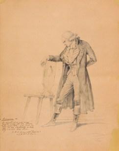 Bildnis Maximilien (-François-Marie-Isidore-Joseph) Robespierre Adolf Friedrich Teichs - Wolfenbüttel, Herzog August Bibliothek
