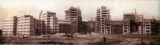 Панорама строительства Госпрома 1927
