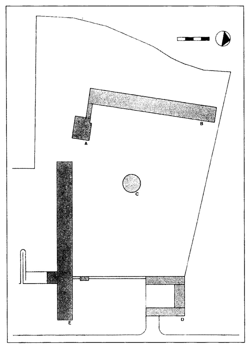 Moisei Ginzburg Amp Ga Zundblat Proposed Site Plan Of The
