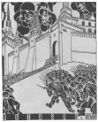 THE STORMING OF THE KREMLIN (drawing by Krinski)