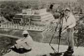 Eisenstein and Aleksandrov on the ruins of Chichenita in Yucatan, Mexco (1931)