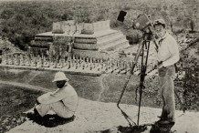 Eisenstein and Aleksandrov on the ruins of Chichenita in Yucatan, Mexco (1931)