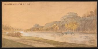 Hans Poelzig (1869-1936) Bebauung von Lehmanns Felsen, Halle_Saale (1927)f