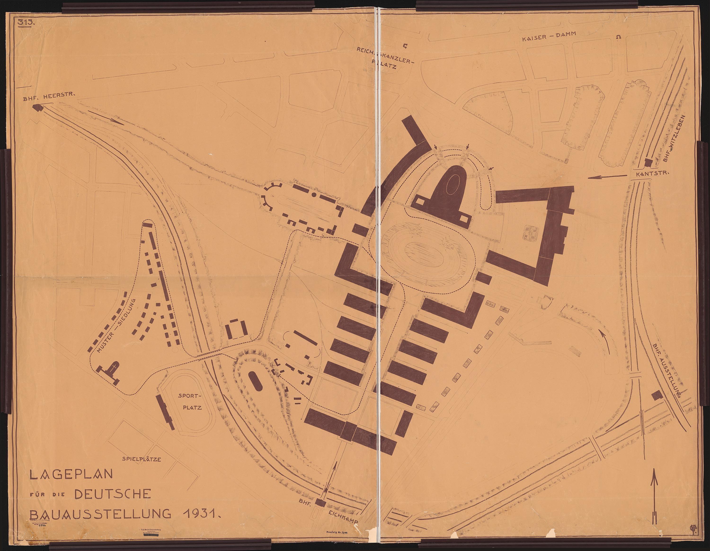 Hans Poelzig (1869-1936) Deutsche Bauausstellung 1931, Berlin. Pavillon für den Deutschen Stahlbauverband (1931)b