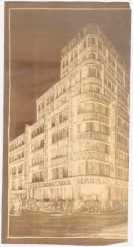 Hans Poelzig (1869-1936) Geschäftshaus S. Adam, Leipziger Straße_ Friedrichstraße, Berlin (1928)