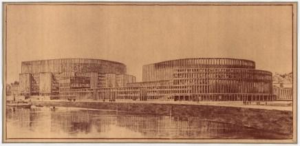 Hans Poelzig (1869-1936) Palast der Sowjets, Moskau (1931)f