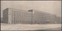 Hans Poelzig Haus des Rundfunks, Berlin-Charlottenburg Ausführungsprojekt, Ansicht von der Masurenallee (1928-1930)