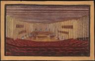 Hans Poelzig Haus des Rundfunks, Berlin-Charlottenburg Perspektivische Ansicht Saal 1
