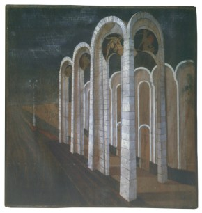 Ivan Leonidov, color sketch for the city of the sun (1940s-1950s)l