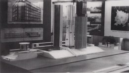 Ivan Leonidov, model of proposal for the Narkomtiazhprom complex in Red Square (1934)
