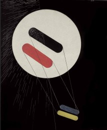 László Moholy-Nagy (1895-1946) SRho 1 signed titled and dated 'L. MOHOLY=NAGY SRho 1 (1936)'