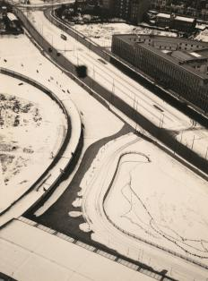 László Moholy-Nagy, born Bácsbarsod, Hungary], 1894-1946, Chicago, Illinois Title Vom Funkturm (From the Radio Tower) Work Type photograph Date 1929 Material gelatin silver print 9 11_16 in. x 7 3_16 in