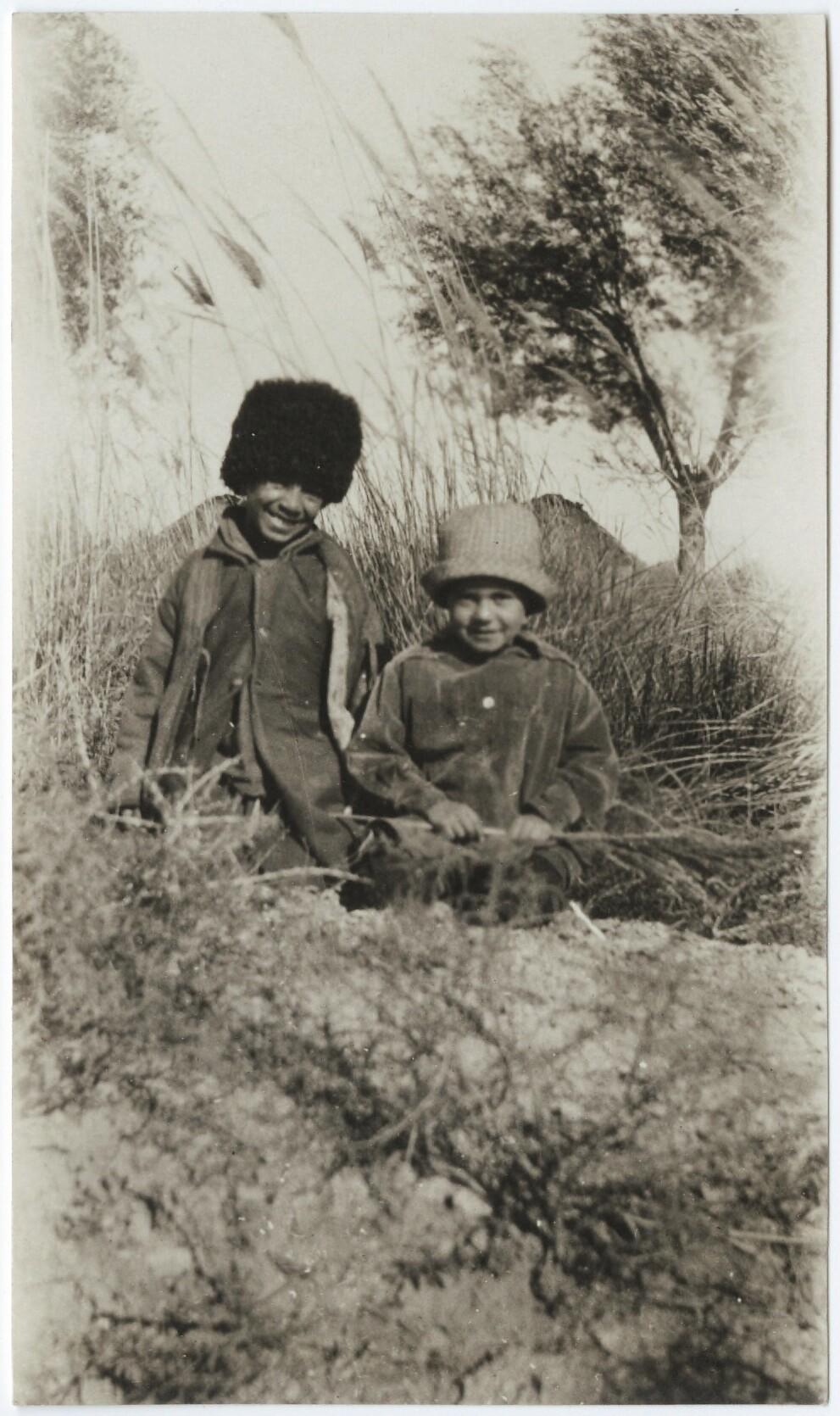 Langston Hughes, A Turkmenian and a Russian child growing up together ... near Merv, Soviet Turkmenia