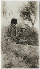 Langston Hughes, A Turkmenian and a Russian child growing up together ... near Merv, Soviet Turkmenia