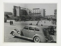 Meyer, Hannes Exterior view of the Palace of the Azerbaijan Press from across Nizami Square, Baku, Soviet Union (now in Azerbaijan), 1932-1954