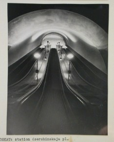 Meyer, Hannes Interior view of Dzerzhinskaya Square subway station escalators, Moscow, 1935-1954