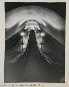 Meyer, Hannes Interior view of Dzerzhinskaya Square subway station escalators, Moscow, 1935-1954