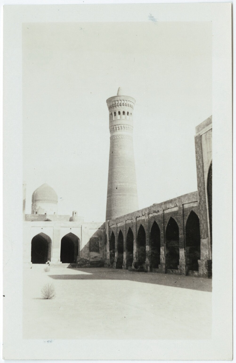 The Tower of Death, Bokhara, (Soviet Central Asia) From- Langston Hughes papers