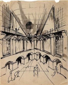 A. Vlasov. Railway Station. Sketches. 1923 a