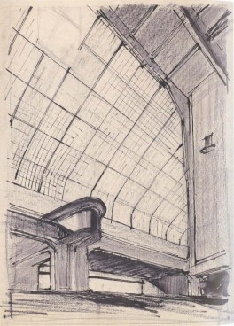 A. Vlasov. Supervisor N. Markovnikov. Palace of Labour. Sketches for the theatre and library. 1928 a
