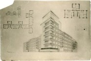 I. Gokhblit. I. Golosov's workshop. House for a Residential Community Group for 60 Flats. 4th year. 1925. Photos 1