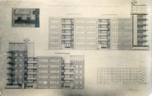 I. Gokhblit. I. Golosov's workshop. House for a Residential Community Group for 60 Flats. 4th year. 1925. Photos