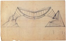 I. Lamtsov. N. Ladovsky's workshop Beam. Revelation of structure. Study. 1922