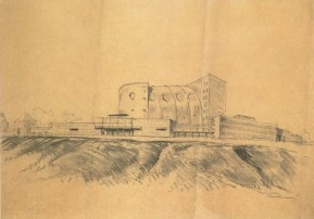 I. Sobolev, Palace of Culture of the Likhachev Automobile Works (ZIL) in the Proletarsky District of Moscow. Competition project. Sketches. 1930