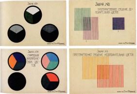 Klutsis' workshop exercise on Colour Harmony. 1st year. 1926:1927
