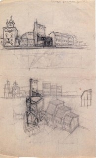 L. Slavina Museum of Red Moscow. Sketches. 1924