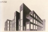 M. Barkhin. Supervisor R Golosov. Club in the Town of Perov. Competition project. 2nd prize. 1926. Photo 1