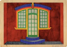 N. Kolpakova. G. Klutsis's workshop. Colour Solution for a Wall Plane. 2nd year. 1928:1929