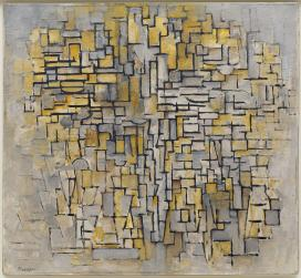 Piet Mondrian Title Tableau No. 2_Composition No. VII Work Type Painting Date 1913 Material Oil on canvas Measurements 41 1_8 x 44 3_4 inches (104.4 x 113.6 cm)