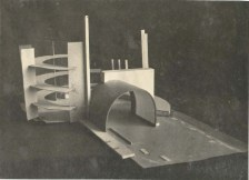 Unknown Authors. Solution for the Volume Composition of a Large-scale Public Building. Models. Early 1930s. Photos a