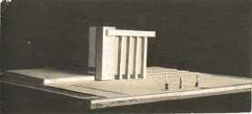 Unknown Authors. Solution for the Volume Composition of a Large-scale Public Building. Models. Early 1930s. Photos