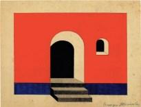 V. Kolpakova. G. Klutsis's workshop. Colour Solution for a Wall Plane. 2nd year. 1928:1929