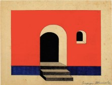 V. Kolpakova. G. Klutsis's workshop. Colour Solution for a Wall Plane. 2nd year. 1928:1929