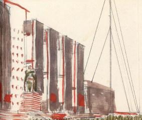 V. Krinsky, A. Rukhlyadev. Monument for V.l. Lenin and the Revolutionary Fighters in Odessa. Sketches. 1924