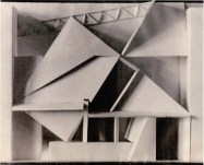 V. Krinsky. Podium. Experimental project. Model. 1921