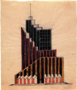 Vladimir Krinsky, Office Building Sketch (1922)