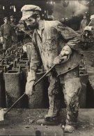 Margaret Bourke-White, Iron Puddler, Red October Rolling Mills, Stalingrad 1930