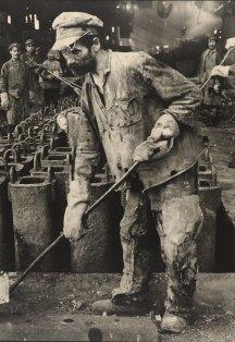 Margaret Bourke-White, Iron Puddler, Red October Rolling Mills, Stalingrad 1930