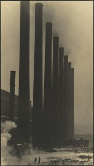 Margaret Bourke-White, Margaret Bourke-White The Towering Smokestacks of the Otis Steel Co., Cleveland 1927-28